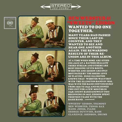 Ben Webster, Harry Edison ‎- Wanted To Do One Together (2014 SACD)
